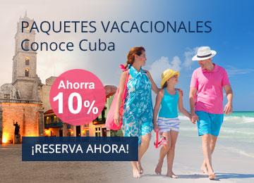 Paquetes vacacionales en Cuba - Paquetes Combinados Hotel + Traslado + Vuelo en Cuba